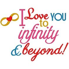 Infinity and Beyond - 3 Sizes! | Wedding | Machine Embroidery Designs | SWAKembroidery.com Band to Bow