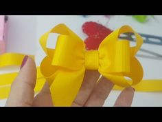 Laço de Gorgurão   Boutique Com Laço Embutido   DIY  PAP  TUTORIAL  Iris Lima - YouTube