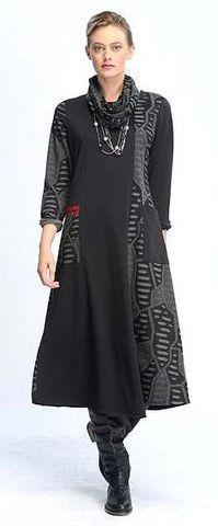 9ea67d70e510 IC Collection Graphic Knit Dress - Charcoal Funky Fashion, Unique Fashion, Knit  Dress,