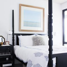 Bedroom decorating ideas for the Modern Bachelorette from Gabrielle Savoie & Savvy Home.