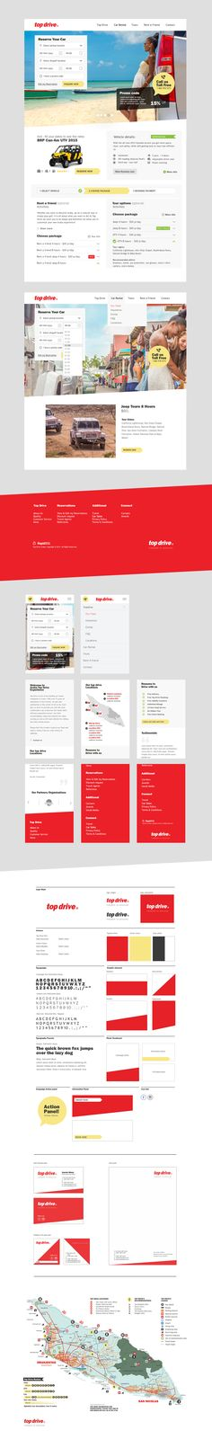 Responsive site car rental, Identity and user interface on Behance
