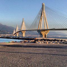 Rio-Antirrio Bridge / Géfyra Charílaos Trikoúpis ~ Berdj Mikaelian (2004) ~ Cable-stayed ~ 2,880 meters / 9,450 ft ~ Links mainland Greece with the Peloponnese Peninsula across the Gulf of Corinth.
