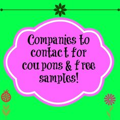 Companies to Contact for #Coupons - over 130 companies that will send coupons for steep discounts or #free!