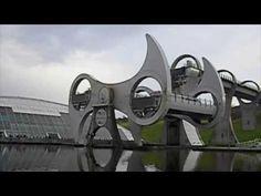 Falkirk Wheel in Falkirk, Scotland. AMAZING and simple. A Genius mind?