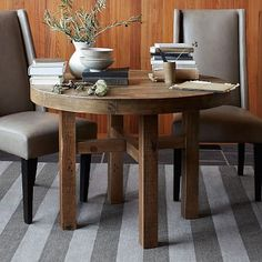 Emmerson Round Dining Table - smaller version of the bigger table I liked. I don't know if I love the round shape, but I like the wood.