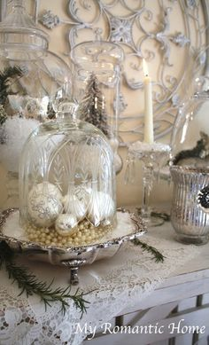 romantic homes magazine christmas decorating   My Romantic Home: Christmas Decor Galore! - Show ...   Christmas decor