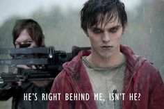 The Walking Dead Humor - Norman Reedus (The Walking Dead) and Nicholas Hoult (Warm Bodies). Walking Dead Funny, Walking Dead Season 4, Fear The Walking Dead, Warm Bodies, Dead Zombie, Stuff And Thangs, Daryl Dixon, Daryl Twd, True Blood