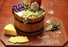 Great wine themed cake