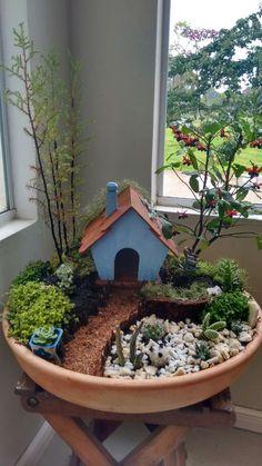Mini Garten The post Mini Garten appeared first on Dekoration. Fairy Garden Plants, Mini Fairy Garden, Fairy Garden Houses, Succulents Garden, Garden Pots, Fairies Garden, Broken Pot Garden, Fairy Gardening, Flower Gardening
