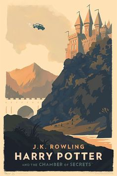 Des couvertures de livres de Harry Potter style vintage par Olly Moss  Dessein de dessin