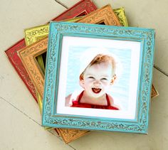 Frames in every color of the rainbow! Obrien Schridde Ivy Brights Frames available at Colorful Picture Frames, Handmade Picture Frames, Cottage Style Furniture, Nursery Decor, Wall Decor, Pattern Pictures, Rainbow Colors, Bright Colors, So Little Time