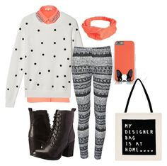 Accent Color: Orange by pandamestas on Polyvore featuring Lacoste, River Island, Ally Fashion, Steve Madden and Avenue