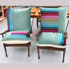 vintageUp-CycledEasyChairs500x500 Dining Chairs, Throw Pillows, Bed, Furniture, Home Decor, Toss Pillows, Decoration Home, Cushions, Stream Bed