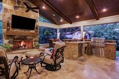 Stunning outdoor living space created by Texas Custom Patios.