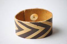 DIY Painted Chevron Bracelet