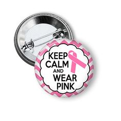 Breast Cancer Pink Ribbon Breast Cancer Awareness Month Pins by NannyGoatsCloset