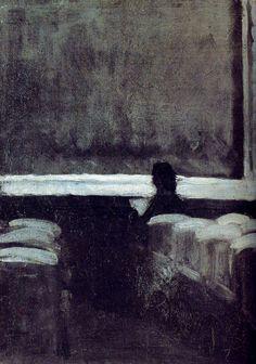 """ Edward Hopper, Solitary Figure in a Theater """