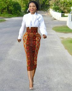 Stand Out With These Ankara Skirt Designs - NALOADED Are you in the mood to rock an Ankara fabric this Week? As simple as the Ankara may look, it can be a game changer in your Wardrobe. African Print Skirt, African Print Dresses, African Fashion Dresses, African Dress, Ankara Fashion, African Inspired Fashion, African Print Fashion, Fashion Prints, Fashion Styles