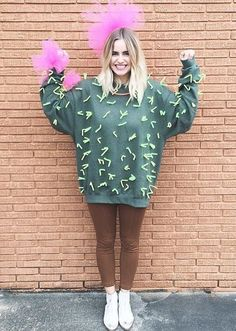 Make cactus costume yourself: DIY ideas & instructions maskerix.de - Make cactus costume yourself Costume idea for Carnival, Halloween & Mardi Gras (Christmas Ideas For Gifts) Couples Halloween, Halloween Costumes For Work, Cute Halloween Costumes, Halloween Kostüm, Halloween College, Zombie Costumes, Easy Diy Costumes, Halloween Inspo, Women Halloween