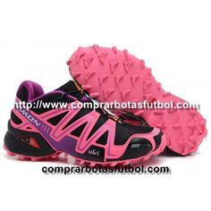 a7cd7bbf69f Zapatillas Salomon Speedcross 3 CS Mujer Negro Rosa Violeta Tienda