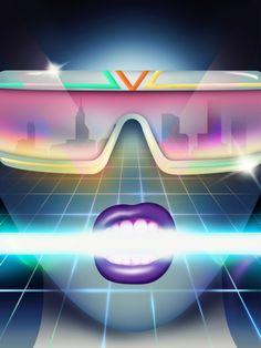 Cyberpunk Noise, retro-futuristic, virtual reality