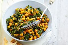 Cook silverbeet and chickpeas with chilli, garlic and rich tomato paste, and you get a side dish that shines! Read More by jennichurchill Chard Recipes, Vegetable Recipes, Vegetarian Recipes, Healthy Recipes, Healthy Meals, Beans Recipes, Vegetarian Cooking, Yummy Recipes, Recipies
