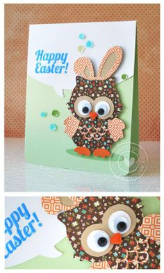 Owl Easter—cut using the Silhouette Cameo (owl from Silhouette store).  Soooo Cute!