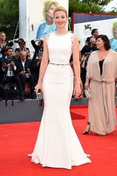 Elizabeth Banks wore a gown by Dolce & Gabbana at the Venice Film Festival - first week of September 2015.
