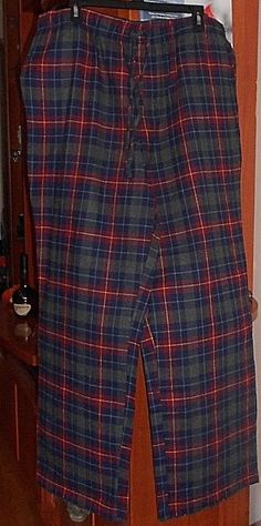 BNWT Mens Sz 3XL Coast Clothing Co Navy Red Check Long Summer Pyjamas RRP $60