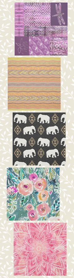 Boho pattern fabric collection for crafters DIYers | shop the collection at Zazzle