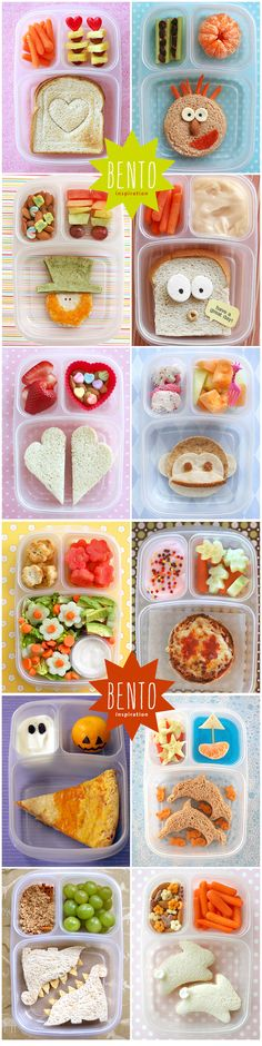 #bento a lot of inspiration for a cool schoollunch for the #kids