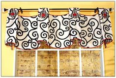 Bathroom Valances for Small Windows | Valance Patterns | Window treatment, blinds and window shade, curtain