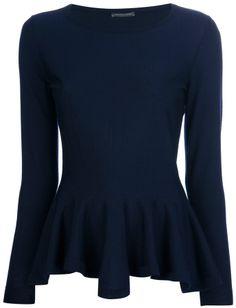 Alexander McQueen peplum sweater on shopstyle.com