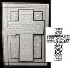 Embossing Folder DARICE - Cross with Words 1218-49 in Crafts, Stamping & Embossing, Embossing Stencils | eBay