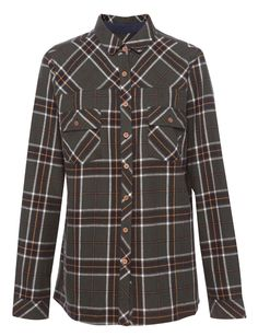 CHECK FLANNEL SHIRT - BLOUSES AND SHIRTS - WOMAN - PULL&BEAR Greece