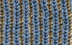 Cottage Dyeworks: How to knit a two-color Brioche Stitch; Two-color Brioche Scarf