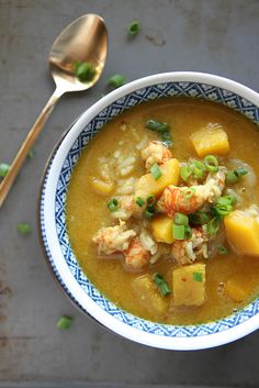 Curried Shrimp and Pumpkin Soup from @heatherchristo