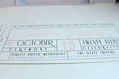 Vintage Glamorous Hollywood Movie Ticket Wedding Invitation- Tear Off RSVP - DEPOSIT Listing on Etsy, $100.00