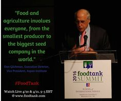 Join us in creating solutions for everyone! Watch Food Tank Summit in DC Live @ www.foodtank.com #FoodTank