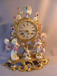 Meissen antique clock