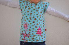 Geburtstagsshirt mit Blümchen aus Jerseynudeln :)