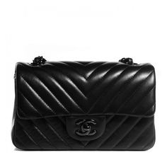 CHANEL Lambskin Chevron Quilted Rectangular Mini Flap So Black ❤ liked on Polyvore featuring bags, handbags, shoulder bags, chanel shoulder bag, crossbody purse, black quilted shoulder bag, black shoulder bag and chanel handbags