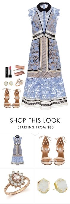 """""""Untitled #671"""" by h1234l on Polyvore featuring self-portrait, Aquazzura, Bloomingdale's, Kendra Scott, Urban Decay and Marc Jacobs"""