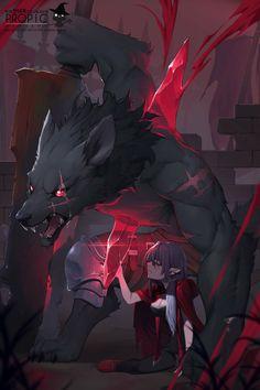 Anime Furry, Anime Wolf, Mythical Creatures Art, Fantasy Creatures, Fantasy Character Design, Character Art, Wolf Artwork, Werewolf Art, Furry Wolf