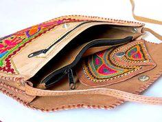 VINTAGE LEATHER BAG Hippie style Bohemian bag by iThinkFashion
