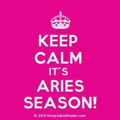 Keep Calm It's Aries Season!' design on t-shirt, poster, mug and ...