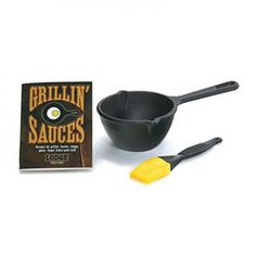 Lodge Grilling Sauces Kit with Melting Pot, Basting Brush, Recipe Booklet Lodge Cast Iron, Cast Iron Pot, Cast Iron Cookware, It Cast, Melting Pot Recipes, Outdoor Living Patios, Salsa, Specialty Cookware, Seasoning Cast Iron