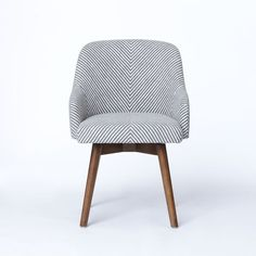 Saddle Office Chair, Painted Stripe, Gray/Ivory from West Elm. LOVE THIS CHAIR.