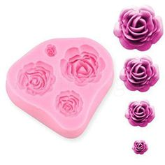 New DIY Tray Soft 4 Size Rose Silicone Decorating Shape Cake Mould Tool Mold 07k in Home, Furniture & DIY, Cookware, Dining & Bar, Baking Accs. & Cake Decorating | eBay!