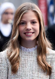 Princess Sofia of Spain arrives to the Campoamor Theatre ahead of the. Queen Rania, Queen Letizia, Adele, Girls Dresses Tween, Geek Party, Hispanic Culture, Spanish Royalty, Tangled Party, Tinkerbell Party